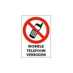 A4  297 x 210 mm. PP bord - Mobiele Telefoon Verboden