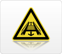Pictogram bewegende delen ISO 7010